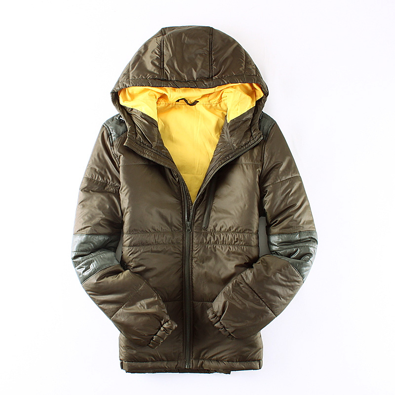 2017 New Men Hood Wadded jacket Light Cotton-padded Jacket Outerwear Casual Jackets