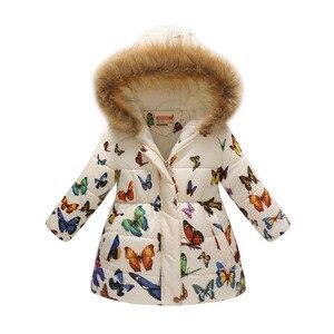 Image 3 - 2019 Kış Tulum Çocuk Giyim Kış Kız Sıcak Baskı Leopar Parka Kızlar Için Ceket Ceket Pamuklu Giyim 8 Yıl