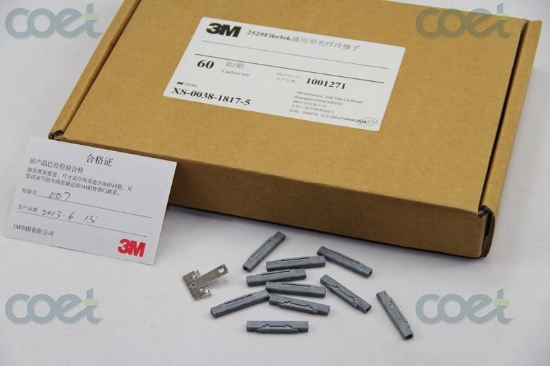 3 M 2529 Fibrlok II Universal Fiber Optique Splice avec un Fibrlok Décapsuleur 60 pièces une boîte