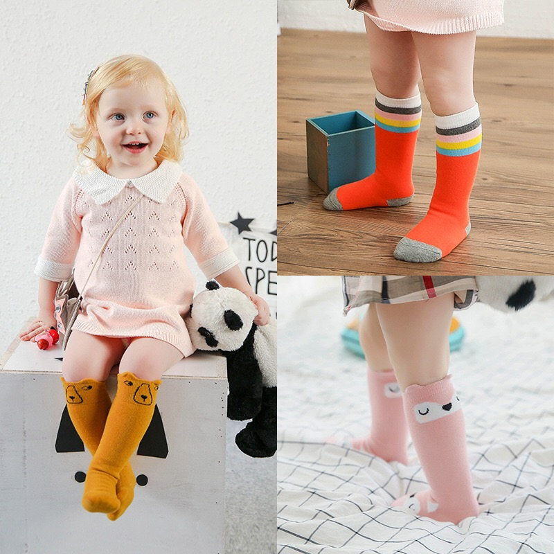 Kids-Long-Socks-Knee-High-toddler-Girls-Boot-Sock-Leg-Warmer-Cute-Cat-Black-baby-Cotton-Sock-for-baby-girls-sloth-socks-3