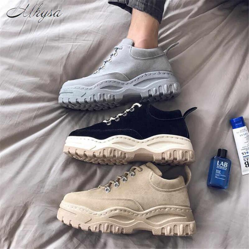 Mhysa 2020New ilkbahar ve sonbahar retro trend düşük ayakkabı öğrenciler vahşi kore versiyonu rahat aşınma kaymaz erkek ayakkabıları m015