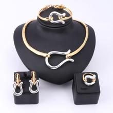 Женский комплект ювелирных изделий в африканском стиле золотого