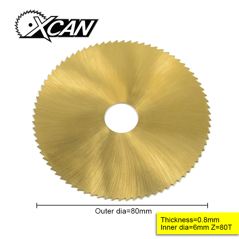 80mm TI-coated Mini HSS Circular Saw  Blade Rotary Cutter For Metal Hand Tool Set