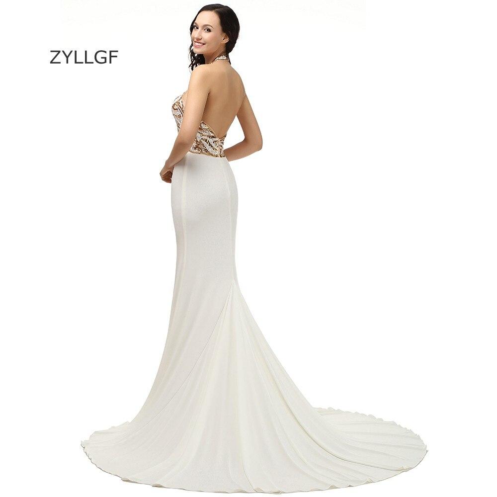 ZYLLGF Abiti Da Cerimonia Donna Sexy Backless Elegant Evening Long Dresses  Sweep Train Top Sequin Western Evening Gown Dress Q10 ee0789124eae
