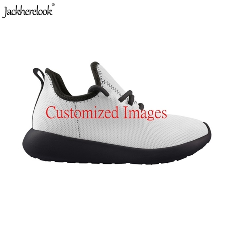 Jackherelook Custom Your Images Kids Mesh Knit Sneakers Sorts Shoes Students Casual Outdoor Sport Athletic Children 28-35