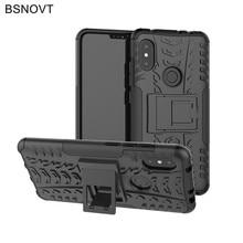 For Xiaomi Redmi Note 6 Pro Case Silicone Hard Armor Anti-knock Funda