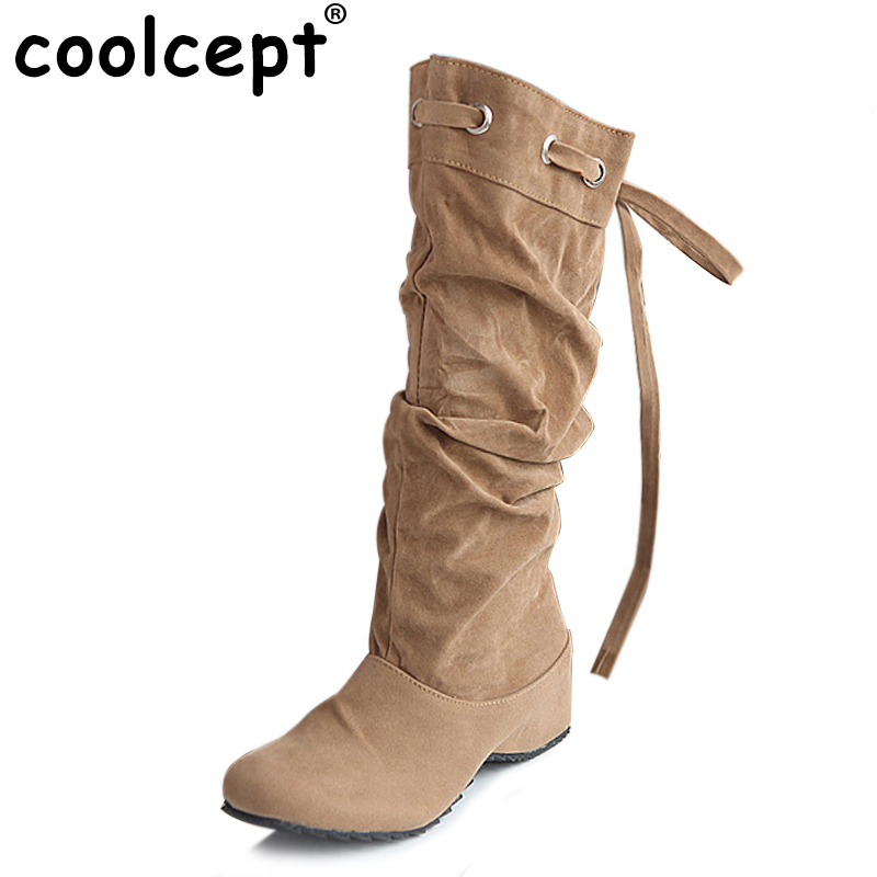 women flat over knee boots ladies riding fashion long snow boot warm winter brand botas footwear shoes P16072 EUR size 34-43 купить дешево онлайн