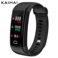 KAIHAI H20 Swimming Waterproof IP68 Blood Pressure Blood Oxygen Heart Rate Sport Smart Bracelet Color Screen