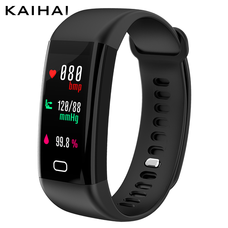 KAIHAI H20 Swim fitness tracker presión arterial monitor de frecuencia cardíaca reloj sport banda de pulsera inteligente impermeable IP68 pulsera