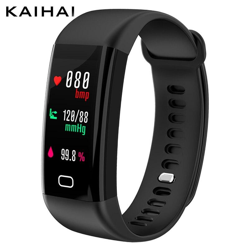 KAIHAI H20 di Nuotata inseguitore di fitness di pressione sanguigna monitor di frequenza cardiaca orologio da polso di sport intelligente del braccialetto della fascia Impermeabile IP68 Wristband