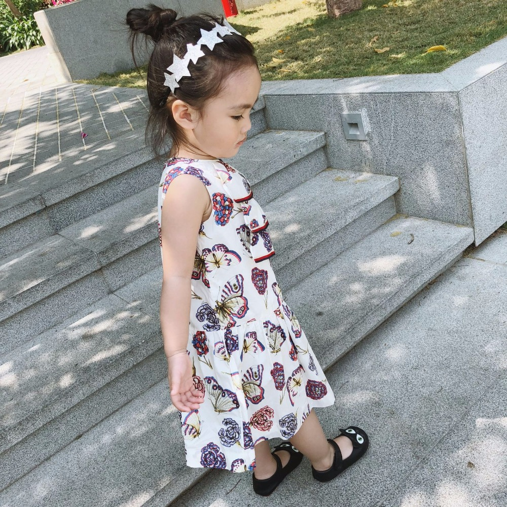 dropship 2018 Europe and America new Vestidos Conch Printed Toddler Dresses Princess Costumes for Kids Clothe Children Dress