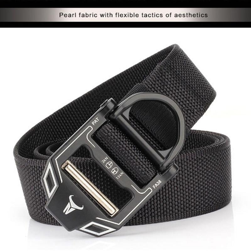 Unisex Canvas Belt Men Nylon Alloy Cobra Tactical Buckle Military Canvas Belt Outdoor Sports Mens Cowboy Pants Women Belt