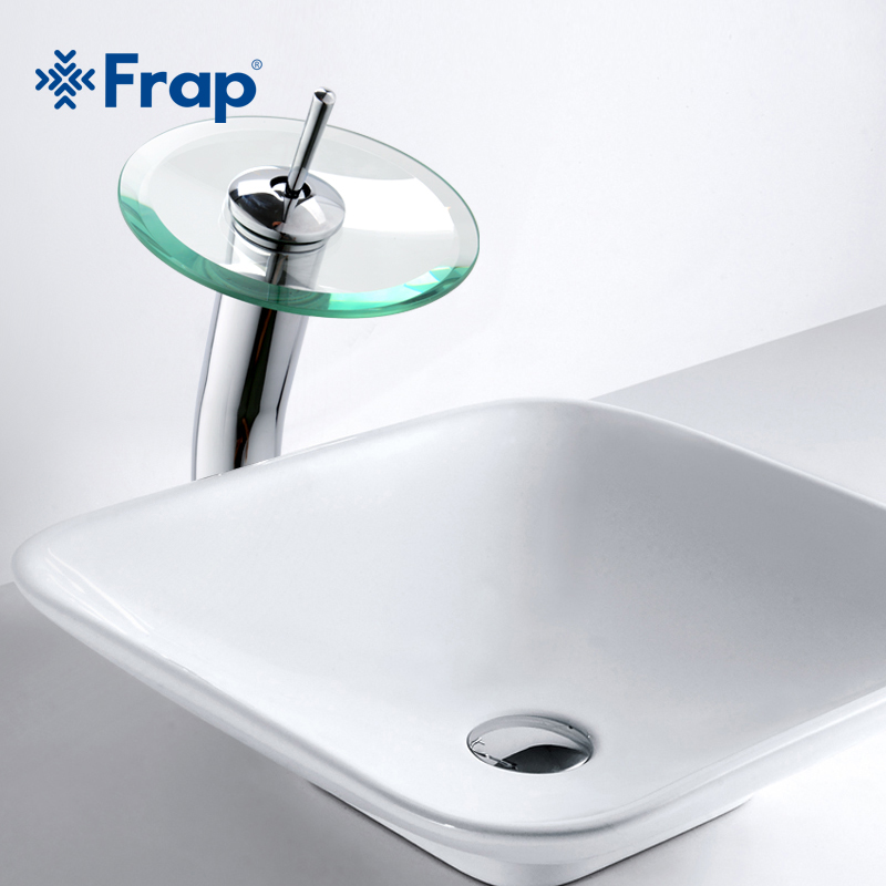 Gentil FRAP Brass Circle Waterfall Glass Bathroom Basin Mixer Tap Waterfall Faucet  Sink Vessel Chrome Polished Finish F1055 3  In Basin Faucets From Home ...
