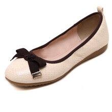 Fashion Bowtie Ballerina Shoes Woman 2016 Breathable Women's Shoes Flats Comfortable Moccasins Women J261