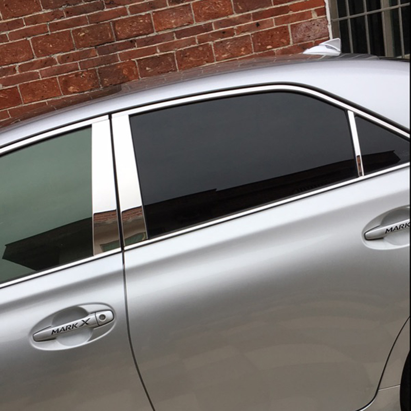 Lsrtw2017 304 en acier inoxydable voiture fenêtre garnitures pour toyota mark X 2005 2006 2007 2008 2009 2010 2011 2013 2012 2014 2015 2016 - 3