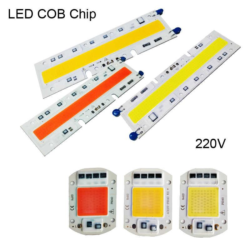 10W 20W 30W 50W 70W 100W bombilla de 150W Panel LED COB Chip integrado cuentas de espectro completo IC inteligente 220V luces de crecimiento cálido/frío