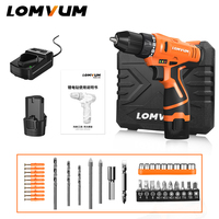LOMVUM New Arrivals Electric Screwdriver Multifunction Power Tools Electric Drill WaterProof Rechargeable Mini Cordless Drill