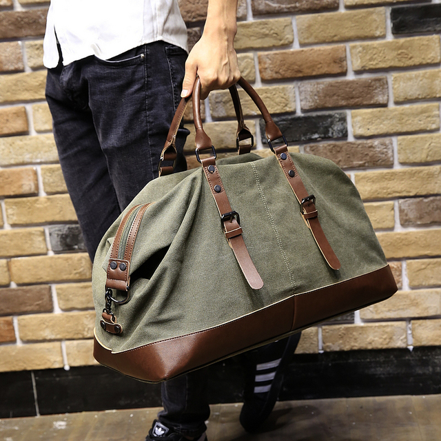 19d30a8597 Brand Casual Large Capacity Travel Men s Messenger Bags Portable Handbag  Multifunctional Shoulder Bag Canvas Vintage Satchel