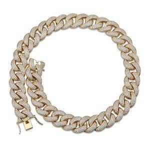 """Image 5 - Maimi קובני קישור שרשרת שרשרת גברים של היפ הופ זהב צבע אייס מתוך מעוקב זירקון שרשראות תכשיטי מתנות 16""""  30"""""""