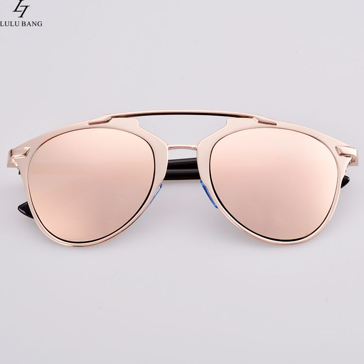 9cf852efe23 Hot Fashion Lady Women Retro Dual Horizontal Beam Full Frame Sunglasses  Double Brim cat Sunglasses Coating UV eyewear-in Sunglasses from Apparel  Accessories ...