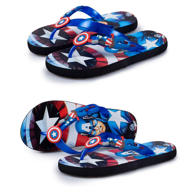 811c1b7bc803 new fashion child slippers flip Captain America cartoon slippers slip  resistant breathable children sandals and slippers