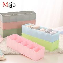 Msjo 5 Lattices Drawer Storager Plástico Multifunción Bra Underwear Sock Cosméticos Misceláneas Organizador Escritorio Cajón Caja de almacenamiento