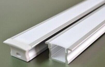 50M/LOT LED Aluminium profile for 12MM 10MM PCB led strip led bar 6063 LED aluminium for ceiling