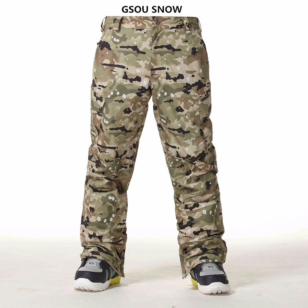 Gsou Ski Pants For Men Winter Snowboard Pants Waterproof Breathable Camouflage Ski thicken warm windproof Winter pantsGsou Ski Pants For Men Winter Snowboard Pants Waterproof Breathable Camouflage Ski thicken warm windproof Winter pants
