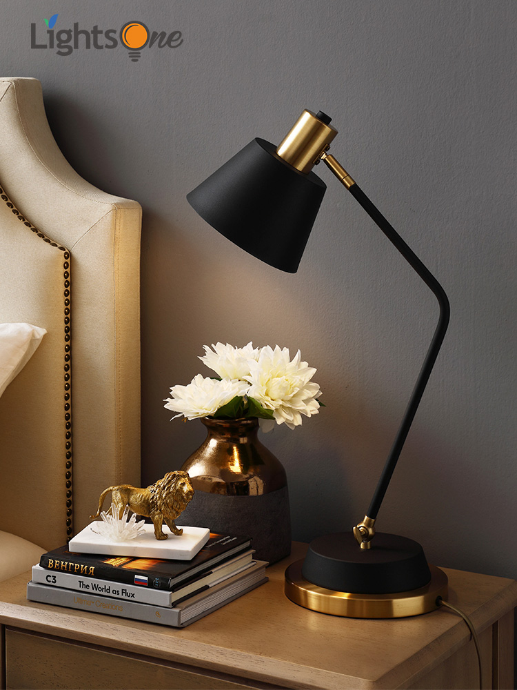 Nordic bedroom bedside table light creative warm and simple post modern desk study reading table lamp