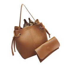Mooistar2 #3001 Women Leather Handbag Tote Purse Cross Body Messenger Shoulder Bag+Clutch Bag