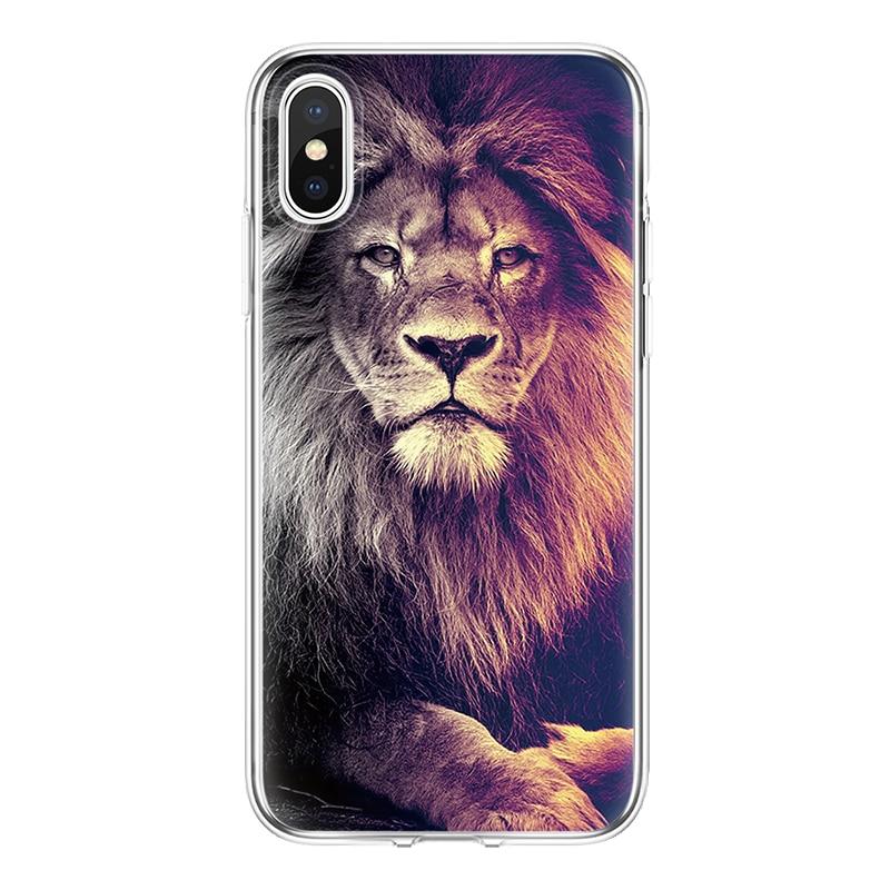 Чехол Tiger capa для iPhone 4S 5 5S SE 6 S 7 8 Plus Funda Coque мягкий для Apple iPhone 7 plus 8 Plus X XR чехол из ТПУ для iPhone Xs Max