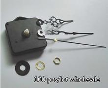 100 Sets Silent Wall Clock Quartz Movement Mechanism Black DIY Hands replacement