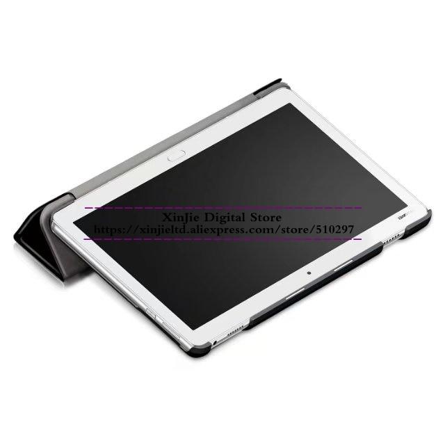 Luxury Folio PU leather Cover Slim Kickstand Voltage Case For Huawei Mediapad M3 Lite 10 10.1 BAH-W09 BAH-AL00 Tablet PC