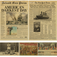 Газетный плакат New York Times/время истории/крафт старая газета серии крафт коричневая настенная бумага ВИНТАЖНЫЙ ПЛАКАТ