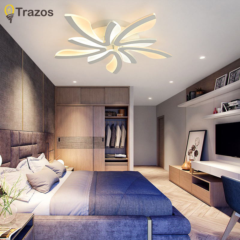 TRAZOS Remote Control Living Room Bedroom Modern Led Ceiling Lights  Luminarias Para Sala Dimming Led Ceiling Lamp Deckenleuchten