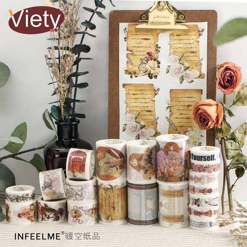 1.5-6cm*5-7m Vintage figure decorate washi tape DIY decoration scrapbooking planner masking tape adhesive tape label sticker 3 5 4cm 5m beautiful fairy tale horse washi tape diy decoration scrapbooking planner masking tape adhesive tape label sticker