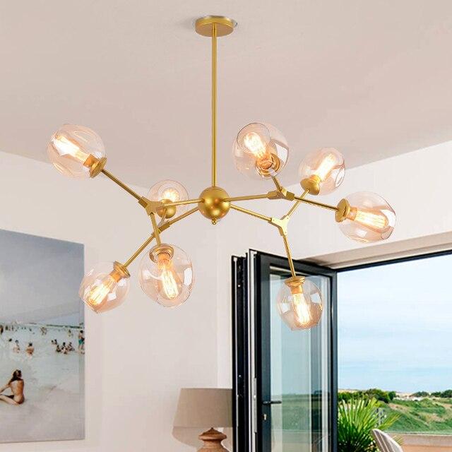 Nero/Oro lampadari di Design nel rami Retrò Arte idea Nordic ...