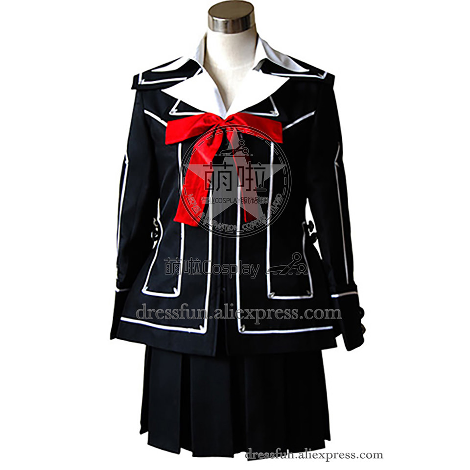 Vampire Knight Cosplay Girl Kurosu Yuuki Costume Black Uniform Jacket Skirt Outfits Fashion Party Fast Shipping Popular