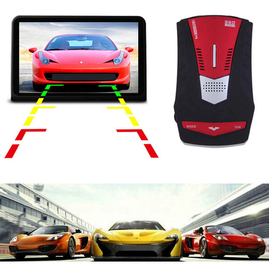 2017 New Car <font><b>Radar</b></font> <font><b>Detector</b></font> V6 LED Display Anti <font><b>Radar</b></font> Electronic Dog English/Russian Car Speed Testing System Hot Sale