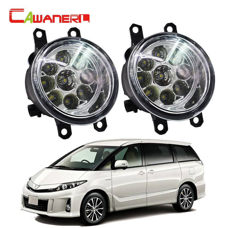 Cawanerl H8 H9 H11 Car LED Bulb Lamp Fog Light Daytime Running Light DRL For Toyota Estima MPV (MCR3_, ACR3_, CLR3_) 2000-2006 cawanerl h8 h11 auto fog light drl daytime running light car led lamp bulb for toyota prius hatchback zvw3 1 8 hybrid 2009
