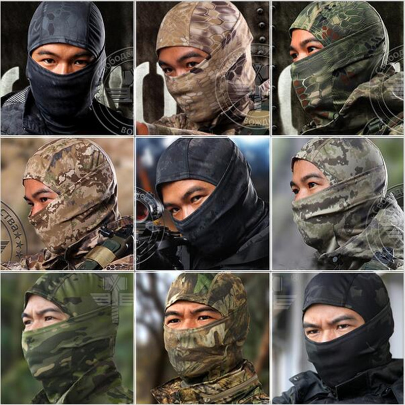 CS Force Tight Balaclava Face Mask Tactical Airsoft Hunting Outdoor Paintball Motorcycle Ski Cycling Protect Full Face Mask Велюр