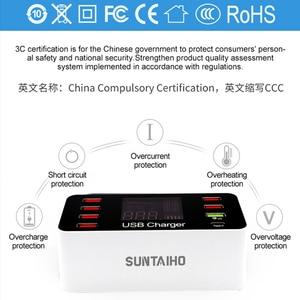 Image 3 - Station de chargement USB Charge rapide 3.0 4.0 40 W PD USB type C intelligent Station de chargement rapide affichage Led pour chargeur iPhone