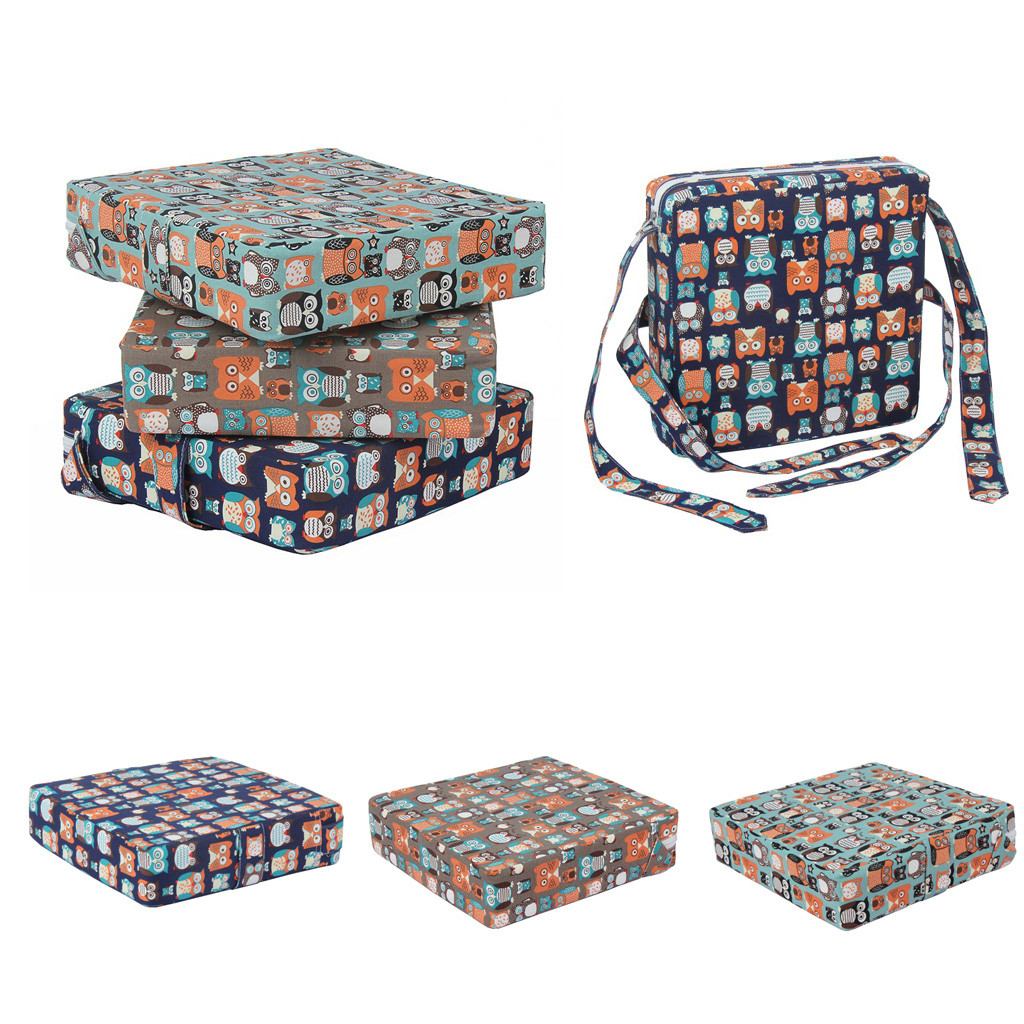 Baby Kids Cartoon Print Chair To Eat Increased Detachable Table And Chair Cushion Booster Seat For Dining Portable Thick Chair