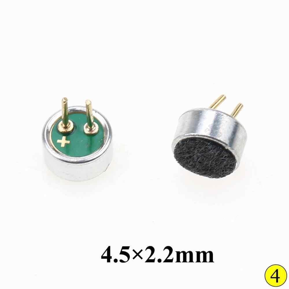 玉渓エレクトレットコンデンサーマイクマイク Capsule 2pin 4 × 2 ミリメートル/4 × 1.5 ミリメートル/4.5*2.2 ミリメートル/6 × 2.2 ミリメートル/9.7 × 7 ミリメートル/6 × 5 ミリメートル/10 × 7 ミリメートルマイクピックアップ