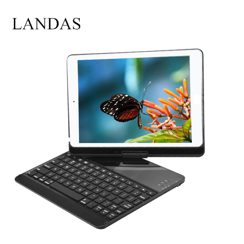 Landas Case For iPad Air 2 Tablet Keyboard 9.7 Inch 360 Rotation Cover Stand For iPad Pro 9.7 Inch Keyboard Case A1673 A1675 case for huawei honor 7x shockproof with stand 360 rotation back cover contrast color hard pc