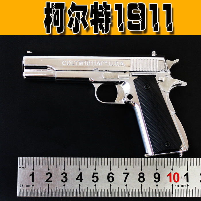 Scaled 1/2.05 colt m1911a pistol model toy metal colt toy gun with...
