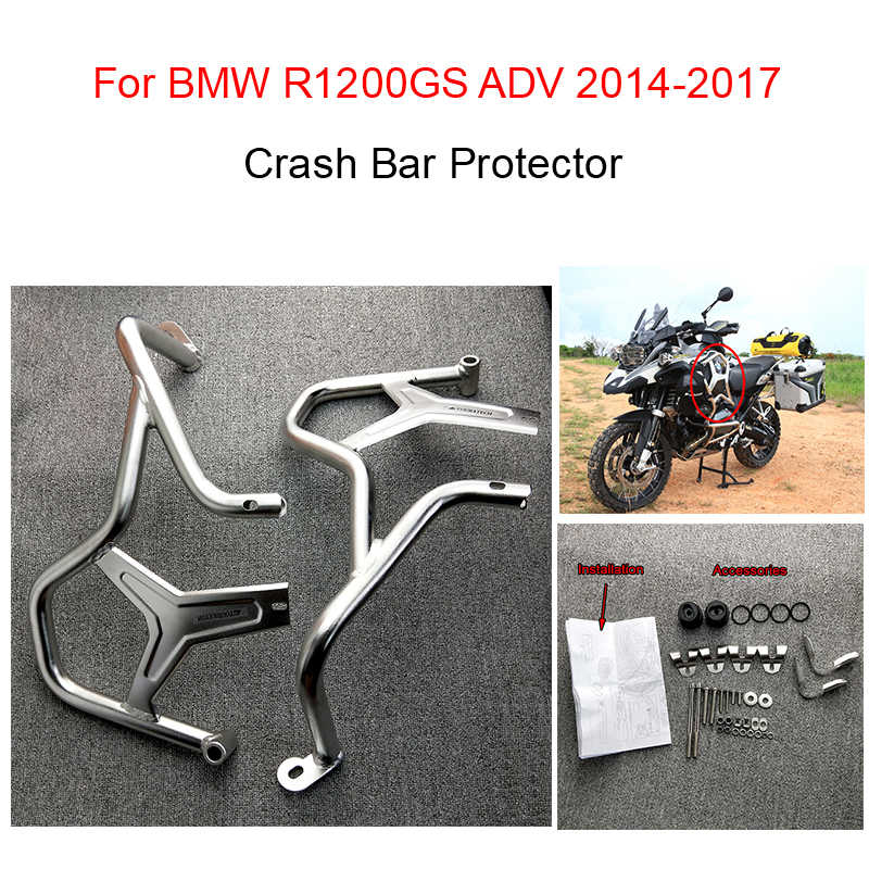 Mesin Jalan Raya Penjaga Crash Bar Bumper Frame Perlindungan untuk BMW R1200GS R 1200GS 1200 GS ADVENTURE ADV 2014 2015 2016 2017 2018