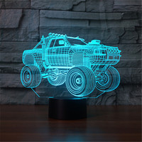 Novelty Gifts 7 Color Changing Vehicle Led Night Lights 3D LED Desk Table Lamp 3D Lamp