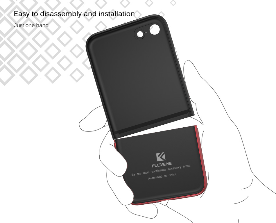 FLOVEME Fashion Contrast Hybrid Phone Cases For iPhone 6 7 6S Plus Higher Camera Protection Hard Hit Color Cover For iPhone 6 7 (11)