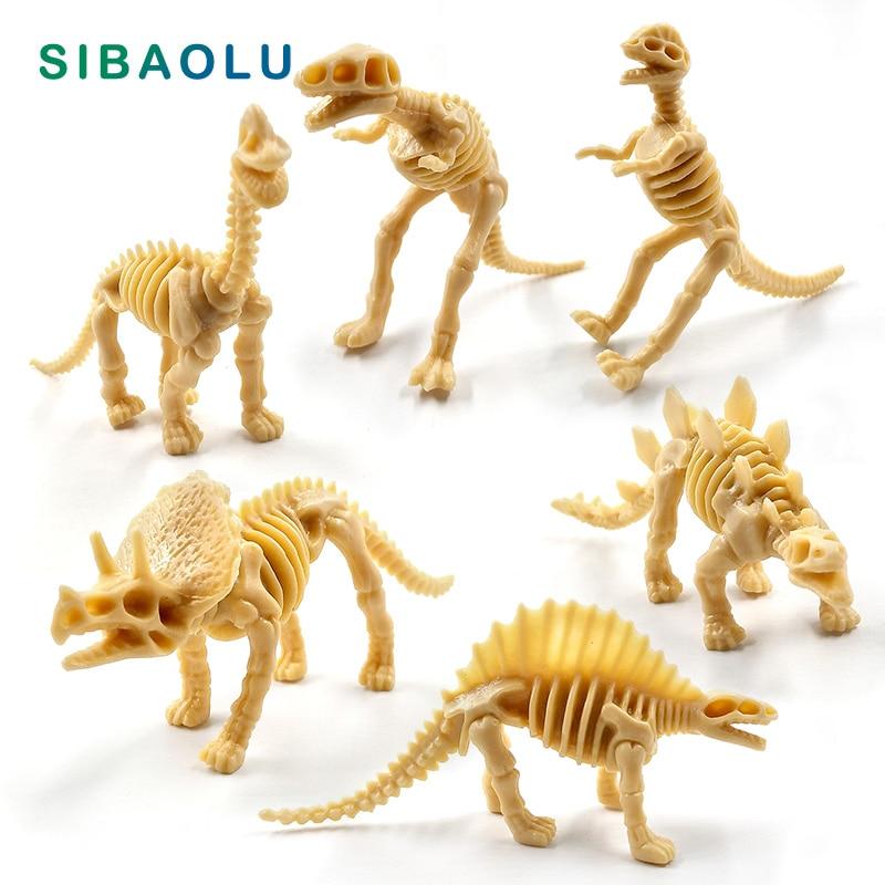 Artificial Dinosaurs Skeleton Figurine Animal Model Home Decor DIY Bonsai Miniature Fairy Garden Decoration Accessories Modern